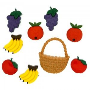 Dekorační knoflíčky Fruit salad