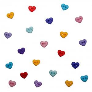 Dekorační knoflíčky Hearts Flirt