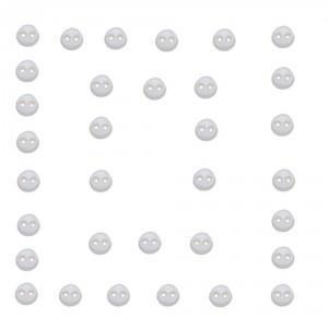 Dekorační knoflíčky Round white