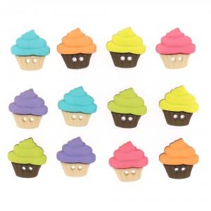 Dekorační knoflíčky Cupcakes