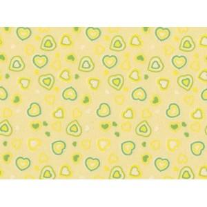 Moosgummi žlutá, srdíčka 30 x 40 cm