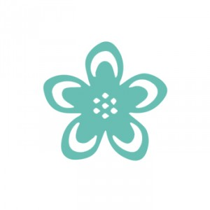 Raznice květina obrysová, 37mm