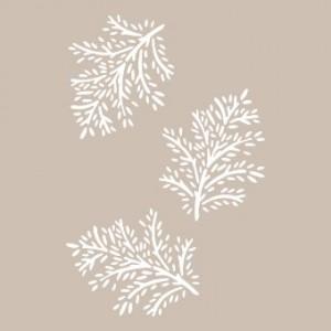 Plastová šablona 21 x 29,7 cm, Leaves