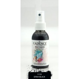 Barva na textil ve spreji 100 ml, černá