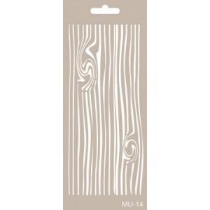 Plastová šablona 10 x 25 cm, Wood