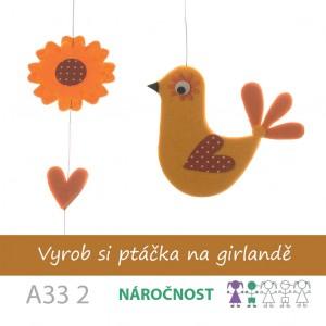 Vyrob si ptáčka na girlandě oranžového
