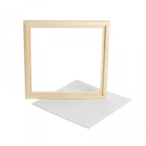 Dřevěný rámeček s plátnem 20 x 20 cm