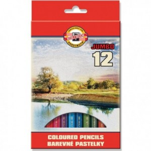 Barevné pastelky Jumbo 12ks