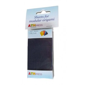 Origami sada papírků černá barva