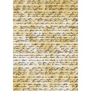 Transparentní papír A4  hnědý s písmem