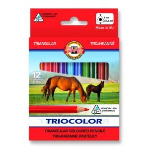 Trojhranné pastelky tenké 12 ks