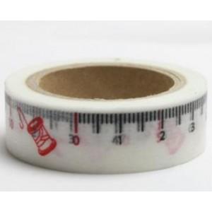 Dekorační lepicí páska Washi - metr bílý