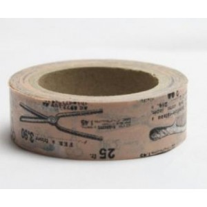 Dekorační lepicí páska Washi - u kadeřníka