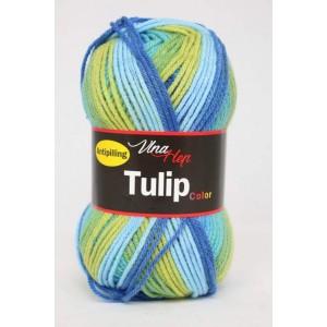 Vlna Tulip color - světlá zelená melír