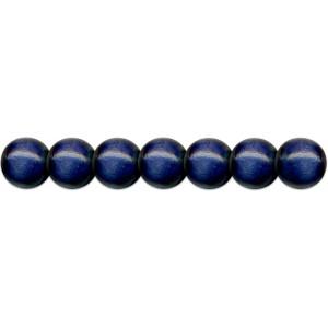 Dřevěné korálky 85 ks, pr. 8mm, modré