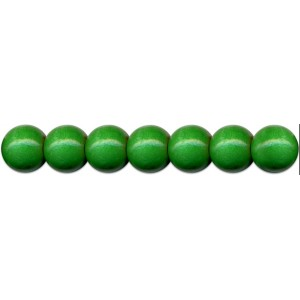 Dřevěné korálky 85 ks, pr. 8mm, tmavě zelené