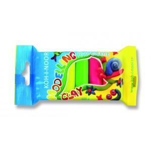 Modelovací hmota 10 barev fluorescenční, 200 g