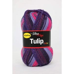 Vlna Tulip color - fialový melír