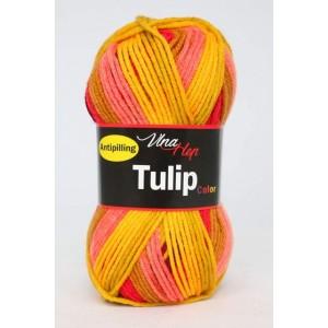 Vlna Tulip color - červenožlutý melír