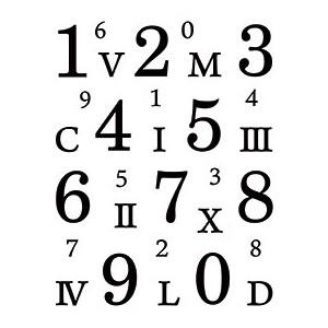 Gelová razítka čísla