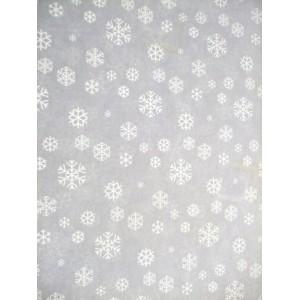 Transparentní papír - bílé hvězdičky
