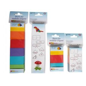 Origami sada papírků syté+pastelové barvy