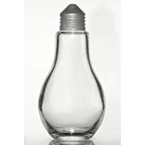 """Skleněná lahvička """"žárovka"""" 200 ml"""
