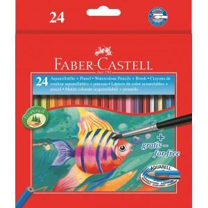 Akvarelové pastelky 24 ks + štětec