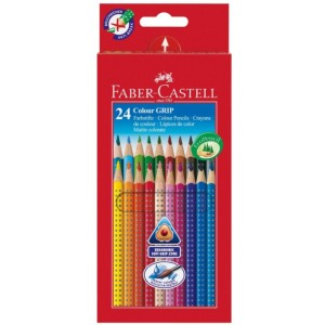 Akvarelové pastelky trojhranné s gripem 24 ks