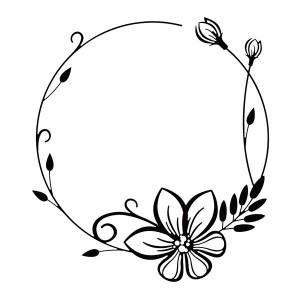 Embosovací šablona - Rámeček květina