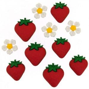 Dekorační knoflíčky Fresh Strawberries