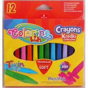 Plastové pastelky trojhranné 12 ks