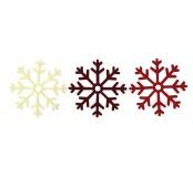 Filcové vánoční vločky