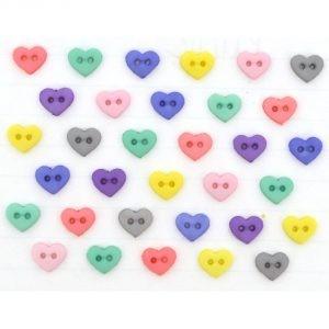 Dekorační knoflíčky Hearts Baby Girl Palette