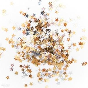 Flitry mix barev hvězdičky, ,10mm, 10g