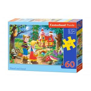 Puzzle Jeníček a Mařenka 60 dílků