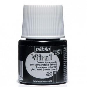 Barva na sklo VITRAIL č. 15 - černá