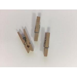 Dřevěné kolíčky - přírodní, 16ks, 48x7mm
