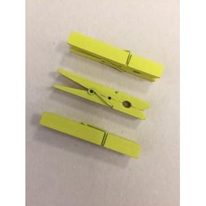 Dřevěné kolíčky - žluté, 16ks, 48x7mm