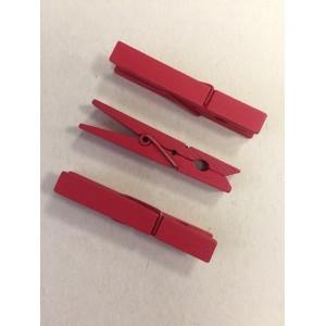 Dřevěné kolíčky - červené, 25ks, 30x4mm