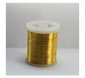 Barevný měděný drátek 0,3 mm - zlatý 48,5 - 50 m