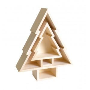 2x dřevěný Vánoční stromeček