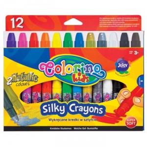 Gelové pastelky, vysouvací, 12 barev
