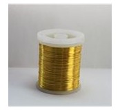 Barevný měděný drátek 0,8 mm - zlatý 8,5 - 9 m