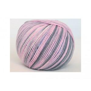 Příze Jeans Color - růžovo-šedá batikovaná