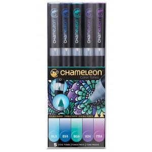 Set Chameleon tónovací fixy, 5ks - studené tóny