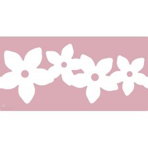 Raznice zdobná bordura - květiny, 63 x 29,5 mm