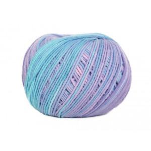 Příze Jeans Color - fialovo - modrá batikovaná