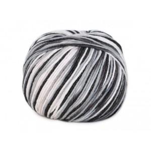 Příze Jeans Color - šedo - černá batikovaná