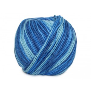 Příze Jeans Color - tmavě a světle modrá batikovaná